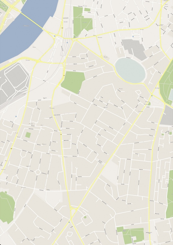 Untouched OpenStreetMap in Google Maps style. Bounding box geo coordinates: -0.131655135, 51.470347, -0.10908757, 51.48923637