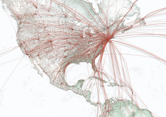 The travel patterns of the US Mainland only.