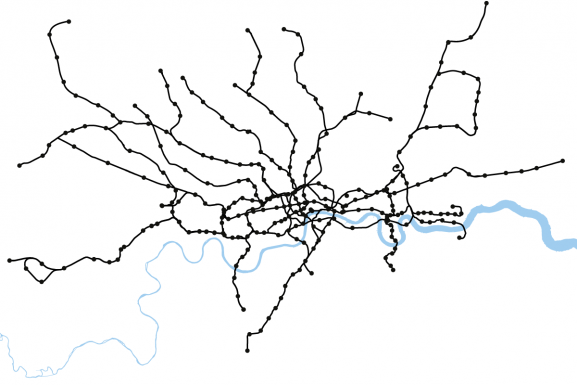 Real Geography of London's Underground Network