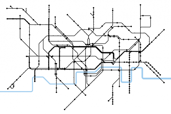 Reshaped Structure According to the London Tube Map